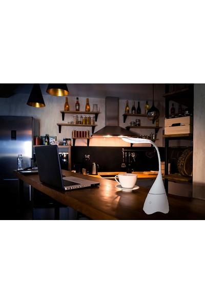 Twinix Bluetooth Hoparlör Masaüstü Aydınlatma Dokunmatik Tuş - Beyaz