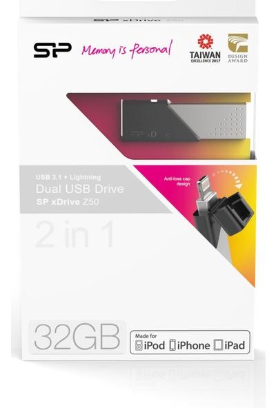 Silicon Power Z50 32GB Lightning USB 3.1 Dual Flash Bellek