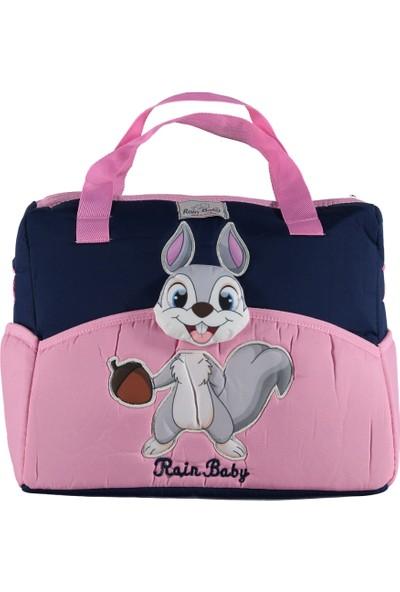 Rain Baby Anne Bebek Lüks Malzeme Çantası Tavşan Desenli