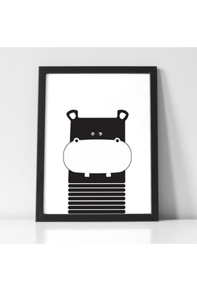 Minik Ayı Bebek Odası 3'lü Saklanan Hippo Çerçeve Seti