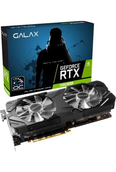 Galax GeForce RTX 2080 Super EX (1-Click OC) 8GB 256Bit GDDR6 DX(12) PCI-E 3.0 Ekran Kartı (28ISL6MDU9EX)