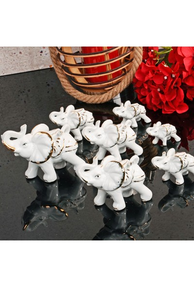 Mhk Collection Porselen 7'li Fil Biblo