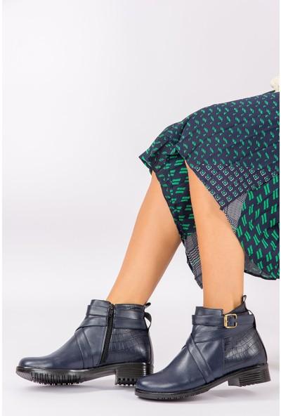 Fox Shoes Lacivert Kadın Bot G726290253