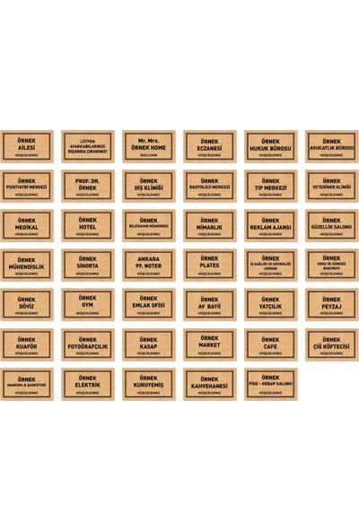 Aktunç Kişiye ve Firmaya Özel Dekoratif Paspas 40 x 70 cm (Iç ve Dış Mekan)