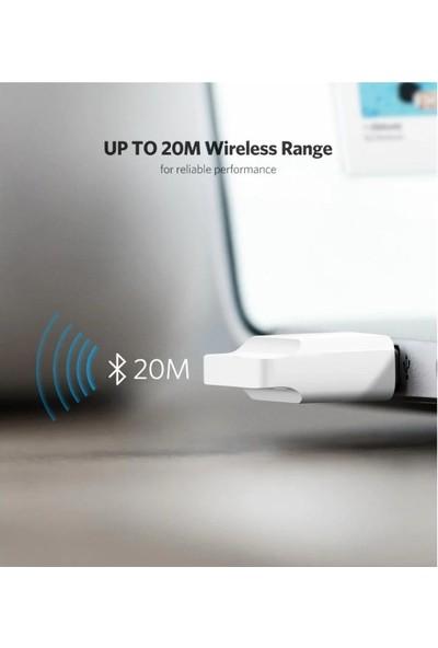 Schulzz Ugreen Mini Adaptör Dongle Bluetooth 4.0 USB Alıcı/Verici - Beyaz