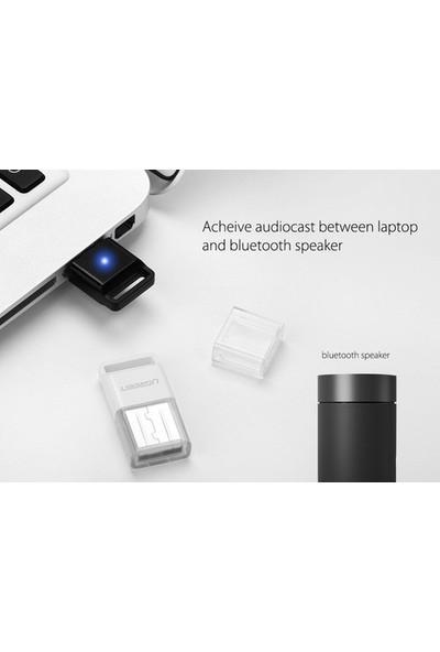 Schulzz Ugreen Mini Adaptör Dongle Bluetooth 4.0 USB Alıcı/Verici - Siyah