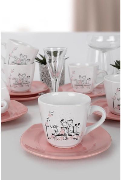 Keramika Tatlı Düş Yeditepe Çay Takımı 12 Parça 6 Kişilik