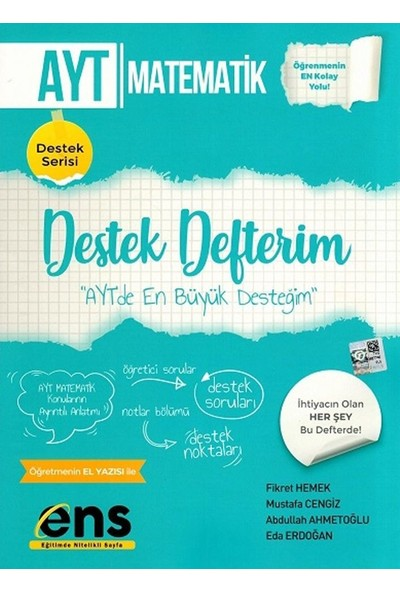 Ens Yayıncılık Ayt Matematik Destek Defterim - Mustafa Cengiz
