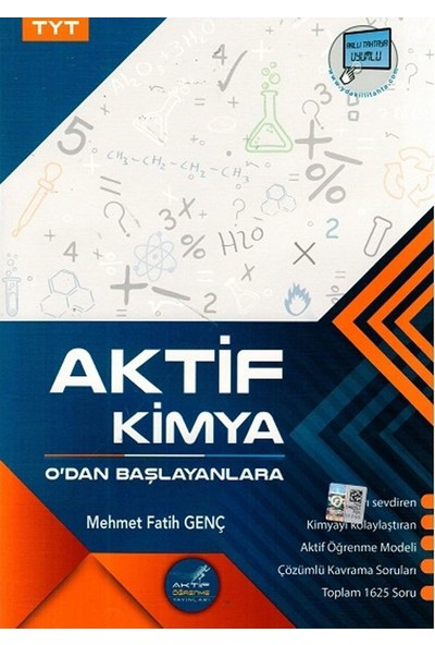 Aktif Öğrenme Yayınları Tyt Aktif Kimya 0 Dan Başlayanlara - Mehmet Fatih Genç