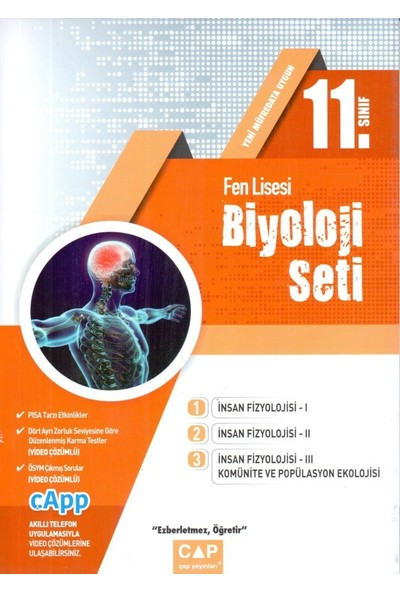 Çap Yayınları 11. Sınıf Fen Lisesi Biyoloji Seti