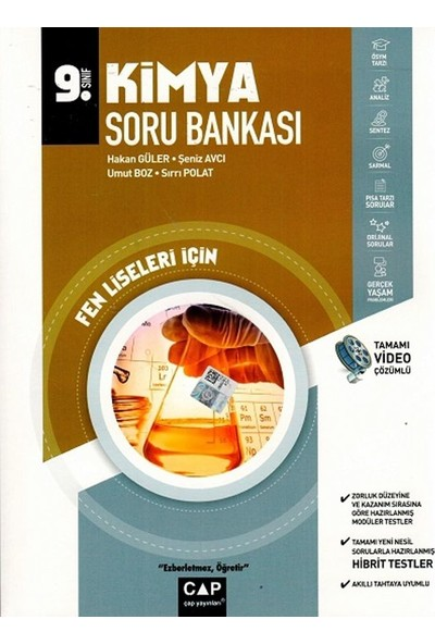 Çap Yayınları 9. Sınıf Fen Lisesi Kimya Soru Bankası - Hakan Güler