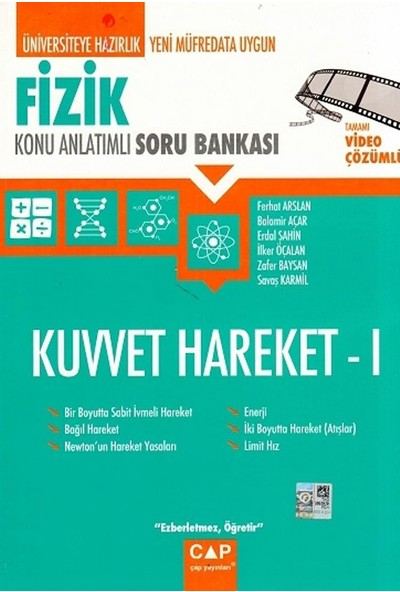 Çap Yayınları Fizik Kuvvet Hareket 1 Konu Anlatımlı Soru Bankası - Balamir Açar