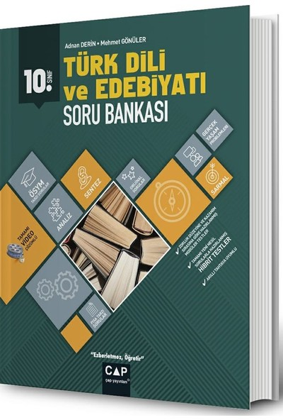Çap Yayınları 10. Sınıf Anadolu Lisesi Türk Dili Ve Edebiyatı Soru Bankası - Adnan Derin