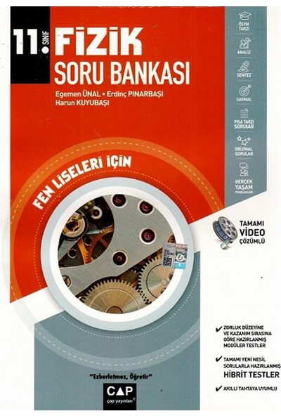 Çap Yayınları 11. Sınıf Fen Lisesi Fizik Soru Bankası - Egemen Ünal