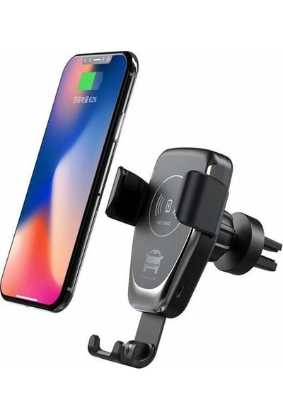 MAKT Kablosuz Hızlı Araç Telefon Tutucu - Siyah