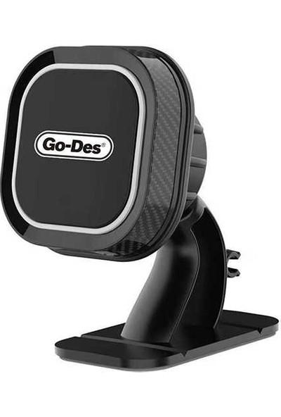 Go-Des Magnetic Dashboard Araç Telefon Tutucu GD-HD668 Siyah