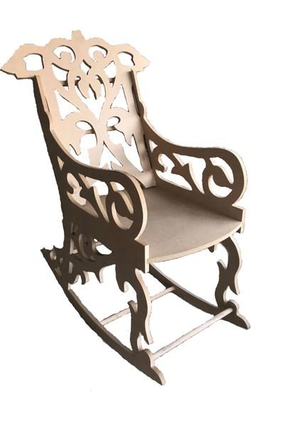 Hobi Ahşap Sallanan Sandalye Koltuk 200 kg Taşıma Kapasitesi
