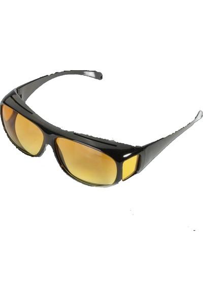 Schulzz Araç Gece Görüş Gözlüğü Premium Hd Sarı Uv Lens Koruma
