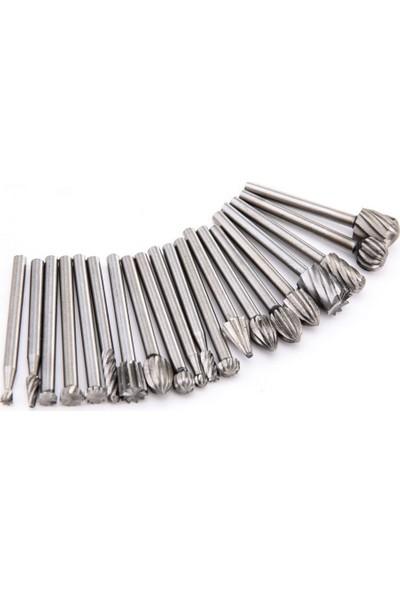 Dremel Matkap Ucu Seti Ahşap Oyma Farklı Boyut Çelik 20'li