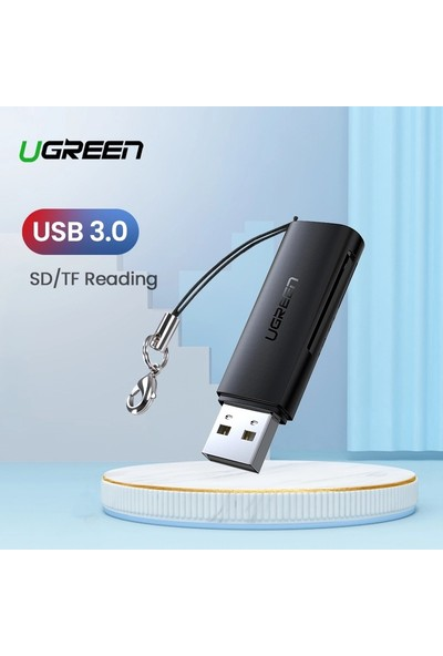 Ugreen Kart Okuyucu USB 3.0 Sd Mikro Sd Tf Için Hafıza Kartı Adaptörü ve Kart Okuyucu