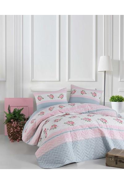 The Fabric Rosse Pembe Tek Kişilik Yatak Örtüsü Seti
