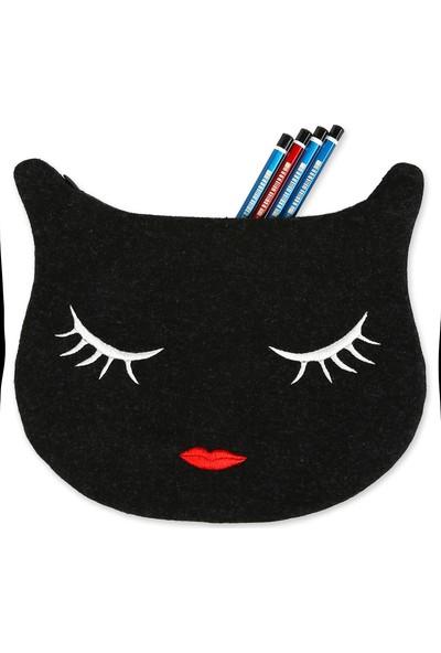 Yaratıcı Tasarım Kedi Figürlü Kalem Kutusu