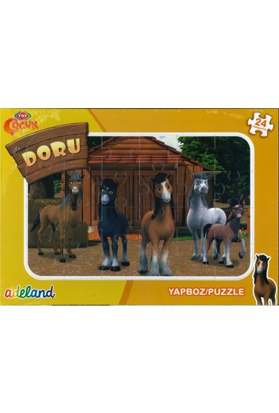 Adeland Trt Çocuk Doru 24 Parça Yapboz / Puzzle