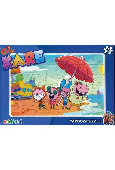 Adeland Trt Çocuk Kare 48 Parça Yapboz / Puzzle