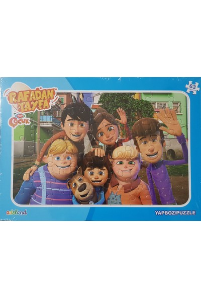 Adeland Trt Çocuk Rafadan Tayfa 63 Parça Yapboz / Puzzle