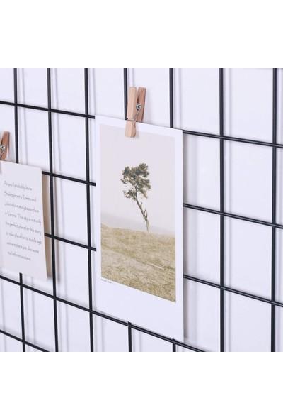 Bundera Fotoğraf Askısı Tel Pano Duvar Askılığı Dekoratif Duvar Panosu Notluk Izgara Pano Resim Not Askısı