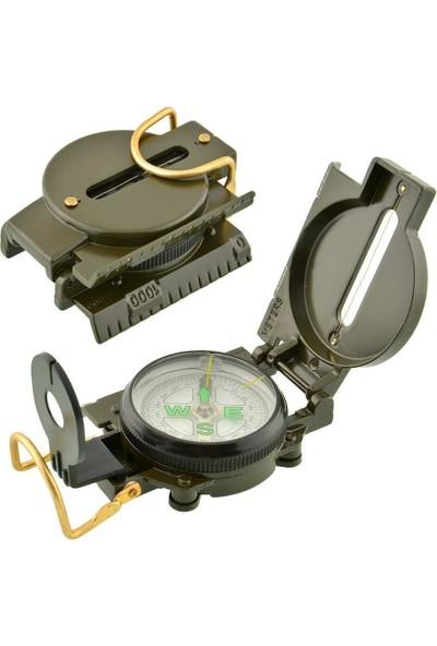 Lenstatıc Compass Metal Kasa Askeri Pusula