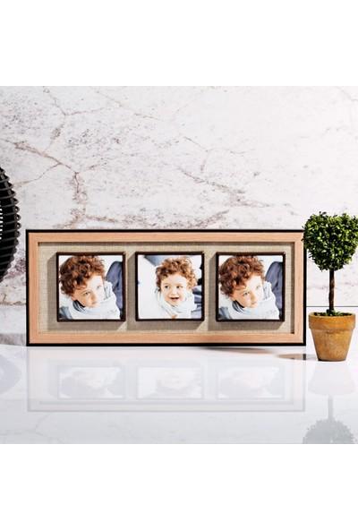 Mhk Collection Lüx Ahşap 3'lü Mıknatıslı Resim Çerçevesi