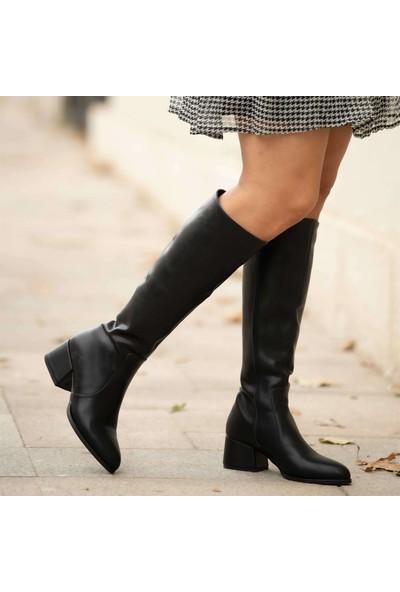 Mio Gusto Faren Siyah Kadın Klasik Çizme