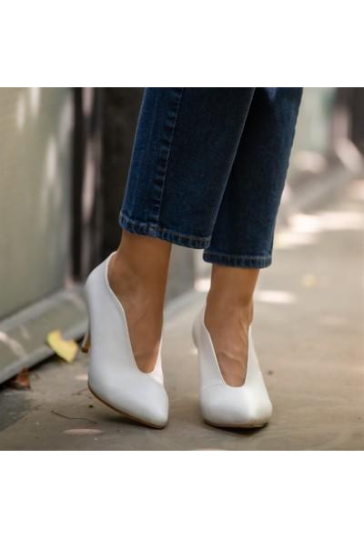 Mio Gusto Jenny Beyaz Topuklu Ayakkabı