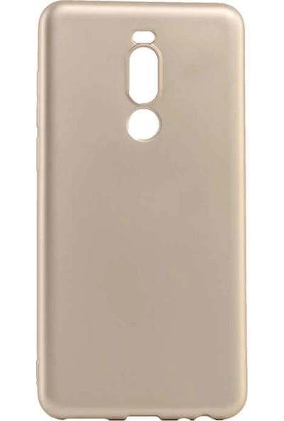 Fiberaksesuar Meizu Note 8 Silikon Kılıf Gold + Nano Esnek Ekran Koruma