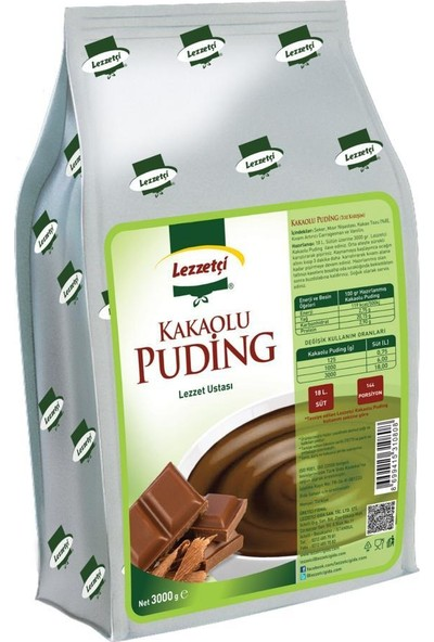 Lezzetçi Kakaolu Puding 3 kg