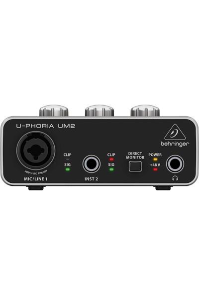 Behringer U-Phorıa Um2 Xenyx Preamfi 2x2 USB Ses Kartı