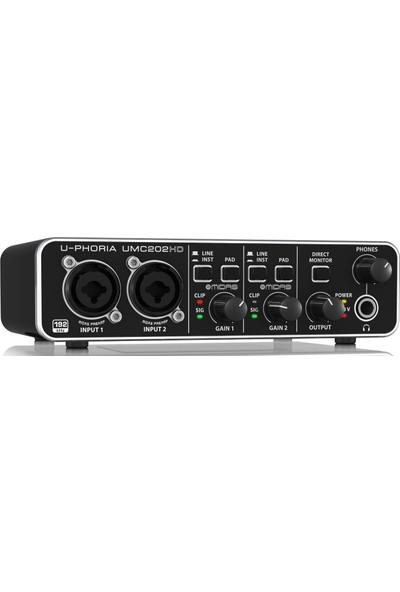 Behringer UMC202HD 24-BIT/192KHZ Midas Preamfi 2x2 USB Ses Kartı