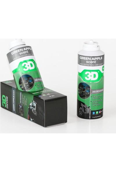 3D Green Apple Scent Oto Klima Koku Giderici 150Ml X 1 Ad T914Oz5