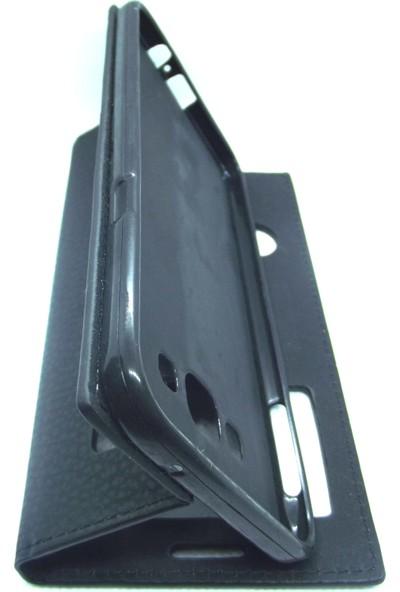 Ahi Samsung Galaxy A8 Gizli Mıknatıslı Kapaklı Kılıf- Siyah