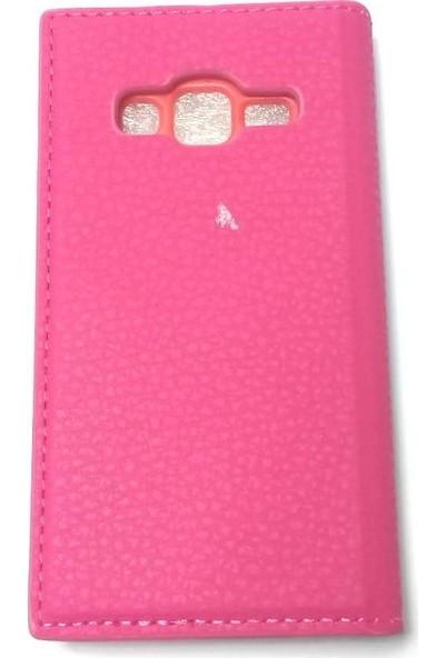 Ahi Samsung Galaxy A8 Gizli Mıknatıslı Kapaklı Kılıf - Pembe