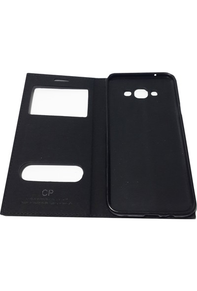 Ahi Samsung Galaxy A8 Gizli Mıknatıslı Kapaklı Kılıf Siyah - 10 Adet