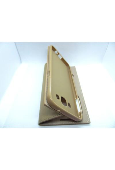 Ahi Samsung Galaxy A8 Gizli Mıknatıslı Kapaklı Kılıf Gold - 10 Adet