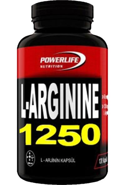 Powerlife Nutrition L- Arginine 1250 mg 120 Kapsül HCL ARG Arjinin