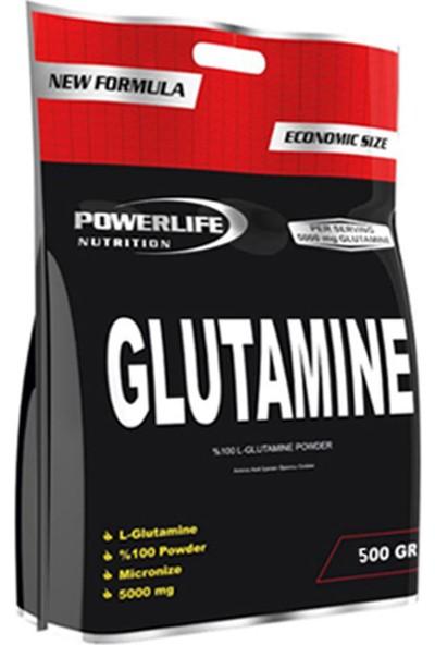 Powerlife Nutrition L-Glutamine 500 gr Aromasız Glutamin Powder