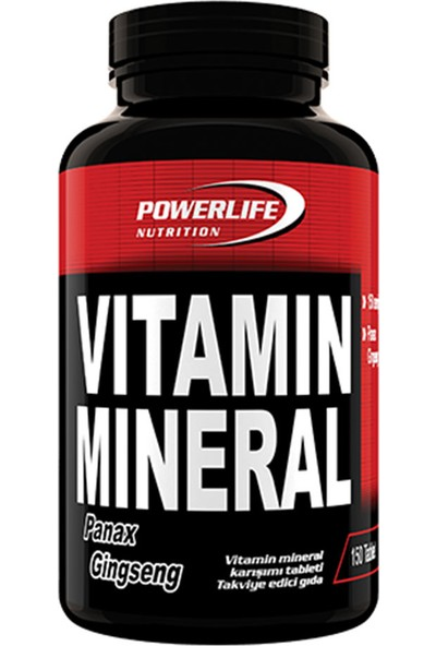 Powerlife Nutrition Vitamin Mineral 150 Tablet Panax Ginseng