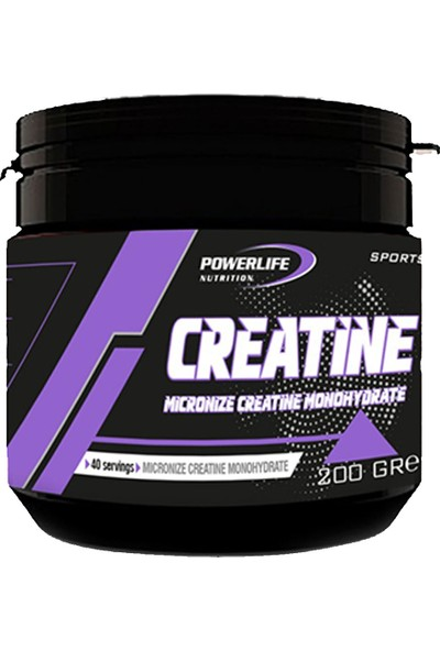 Powerlife Micronize Creatine Monohydrate 200 gr Aromasız Kreatin Powder