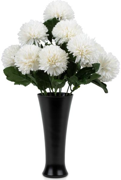 Çiçekmisin Fransız Style Vazoda Top Karanfil Demet Yapay Çiçek