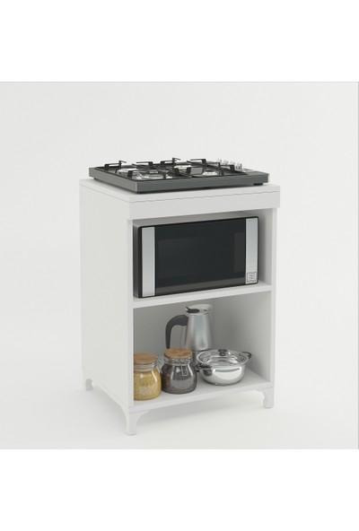 Kenzlife ocak dolabı azra byz 85*60*57 mutfak modül mini fırın mikrodalga banyo ofis