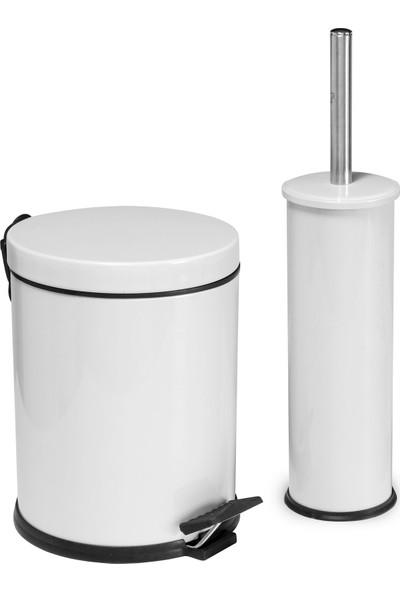 Beyaz 2'li Banyo Aksesuar Seti